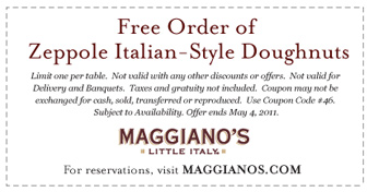 Maggianos Little Italy Coupon August 2017 Maggianos Little Italy